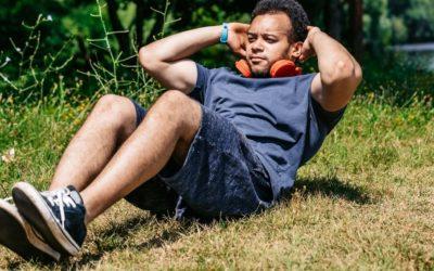 Ejercicio de abdominales para principiantes
